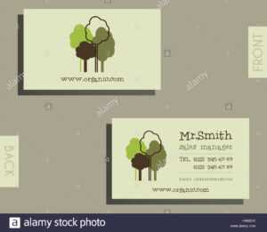 Eco, Organic Visiting Card Template. For Natural Shop inside Bio Card Template