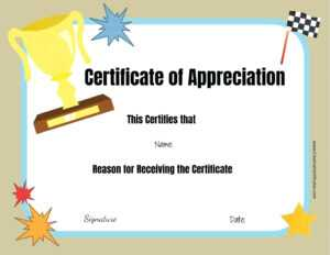 Editable Award Template – Bestawnings in Perfect Attendance Certificate Free Template