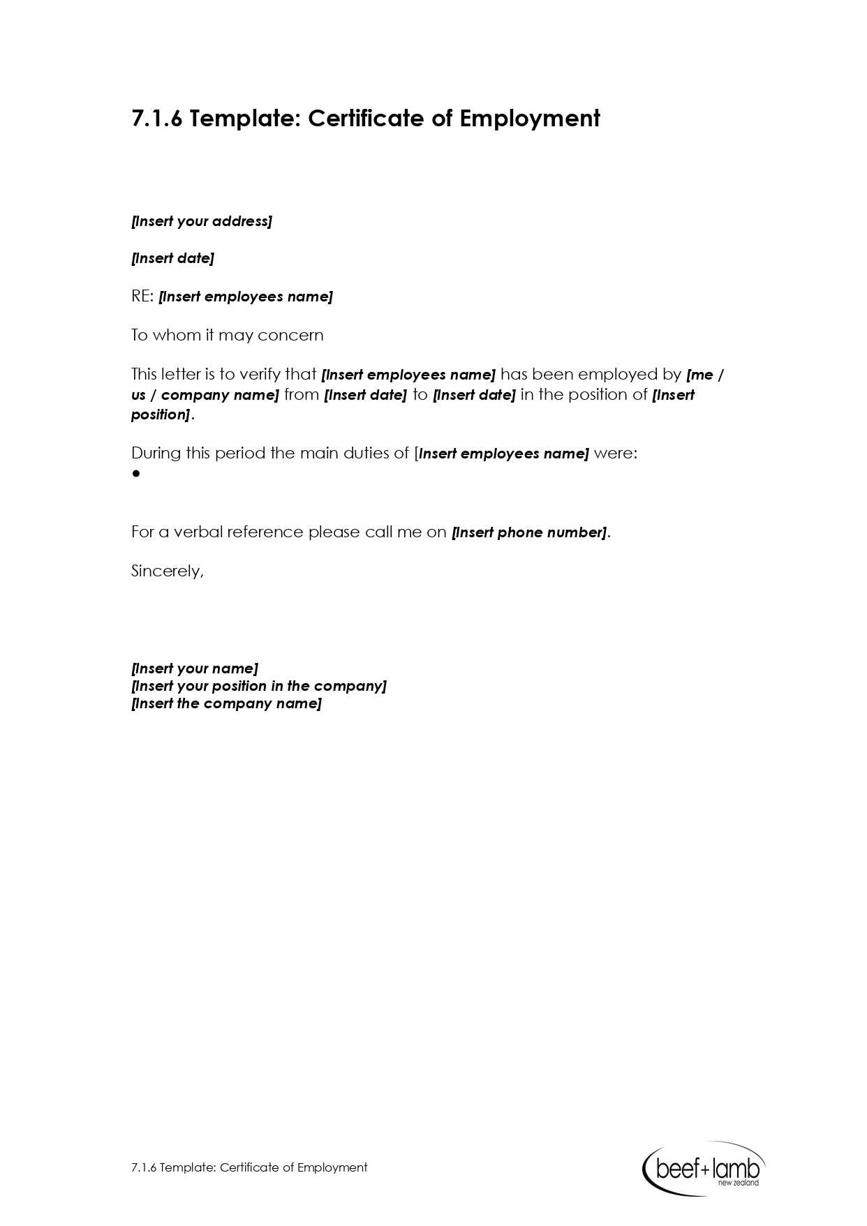 Editable Certificate Of Employment Template - Google Docs Intended For Sample Certificate Employment Template
