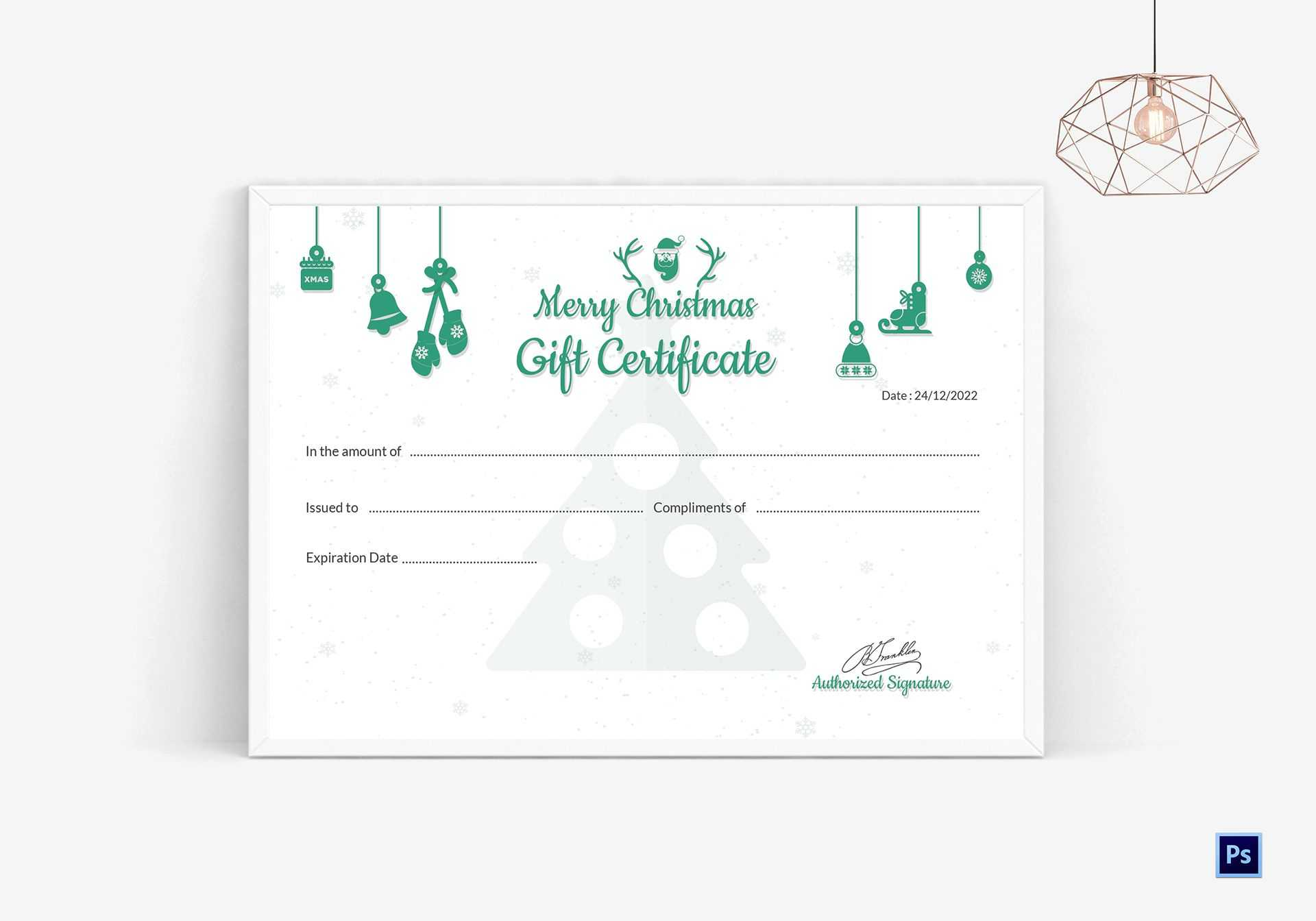 Editable Christmas Gift Certificate Pertaining To Merry Christmas Gift Certificate Templates