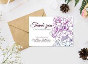 Editable Funeral Thank You Cards. Personalized Sympathy Thank You,  Printable Bereavement Thank You Card – Digital Download throughout Sympathy Thank You Card Template
