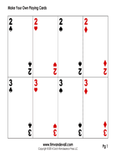 Editable Playing Card Template – Fill Online, Printable within Deck Of Cards Template