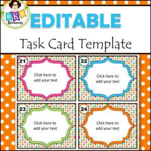 Editable Task Card Templates – Bkb Resources intended for Task Card Template