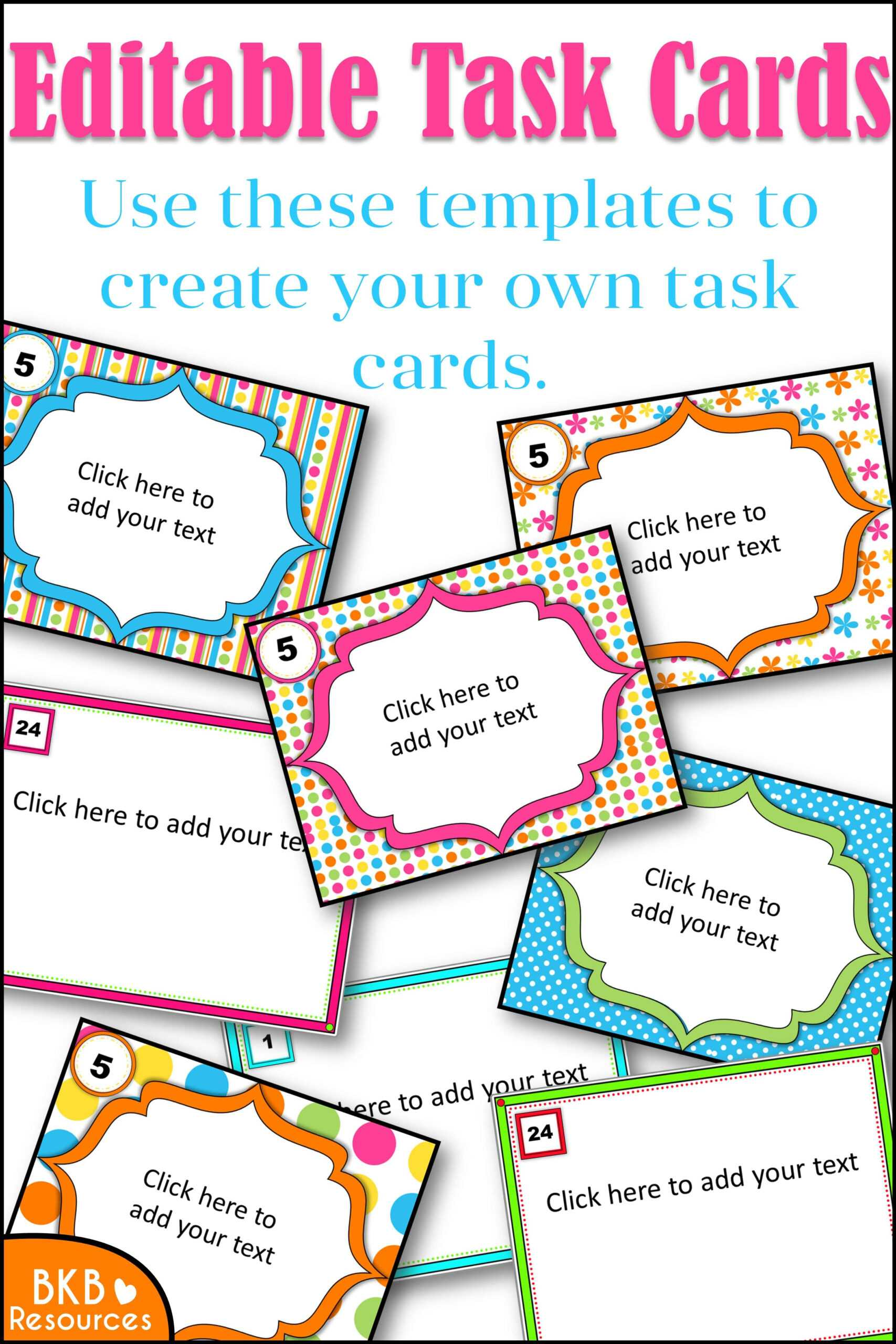Editable Task Card Templates - Bkb Resources With Task Card Template