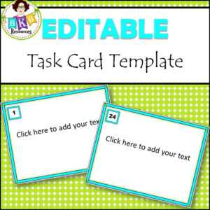 Editable Task Card Templates – Bkb Resources within Task Card Template