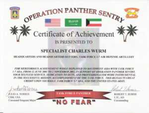 Education / Awards with Certificate Of Achievement Army Template