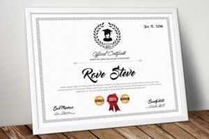 Educational Certificate Psd Template – Vsual regarding Indesign Certificate Template