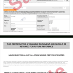 Electrical Certificate - Example Minor Works Certificate with Minor Electrical Installation Works Certificate Template