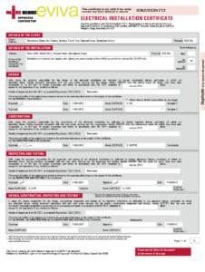 Electrical Installation Certificate Editable Pdf – Fill within Minor Electrical Installation Works Certificate Template