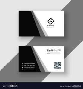 Elegant Black And White Business Card Template with Adobe Illustrator Card Template