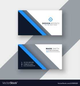 Elegant Blue Professional Business Card Template with Professional Name Card Template
