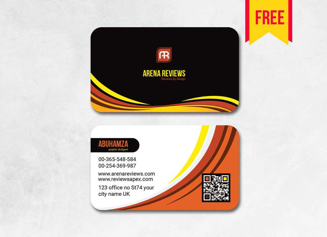 Elegant Business Card Template Free | Free Download With Download Visiting Card Templates