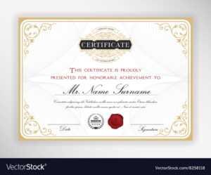 Elegant Certificate Template Design intended for Elegant Certificate Templates Free