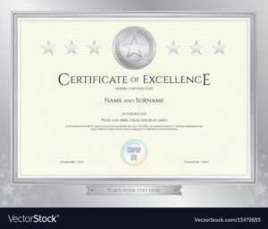 Elegant Certificate Template For Excellence within Commemorative Certificate Template