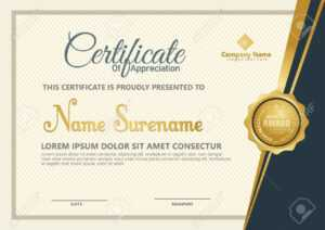Elegant Certificate Template Vector With Luxury And Modern Pattern  Background intended for Christian Certificate Template