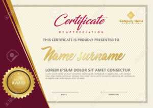 Elegant Certificate Template Vector With Luxury And Modern Pattern.. inside Elegant Certificate Templates Free