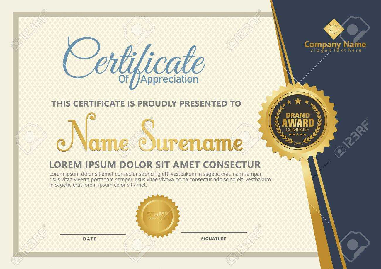 Elegant Certificate Template Vector With Luxury And Modern Pattern.. Intended For Elegant Certificate Templates Free