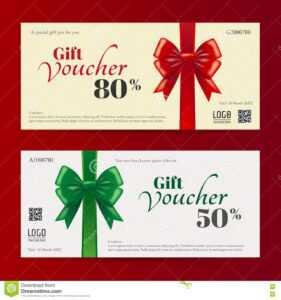 Elegant Christmas Gift Card Or Gift Voucher Template Stock inside Free Christmas Gift Certificate Templates