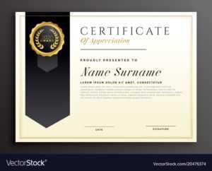 Elegant Diploma Award Certificate Template Design intended for Template For Certificate Of Award