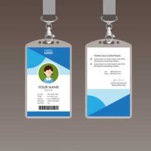 Elegant Id Card Design Template – Download Free Vectors inside Company Id Card Design Template
