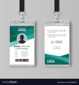 Elegant Id Card Design Template with Id Card Template Ai