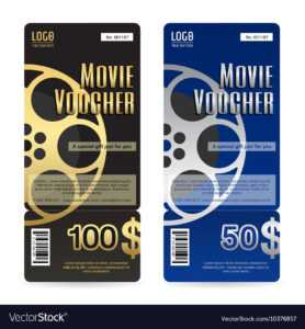 Elegant Movie Gift Voucher Or Gift Card Template inside Movie Gift Certificate Template