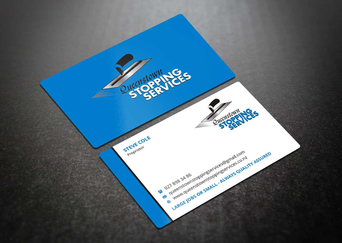 Elegant, Playful, Business Business Card Design For A With Plastering Business Cards Templates