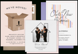 Email Online Moving Announcements That Wow! | Greenvelope regarding Moving Home Cards Template