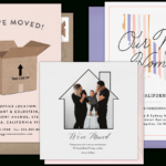 Email Online Moving Announcements That Wow! | Greenvelope Regarding Moving House Cards Template Free