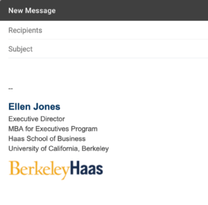 Email Signatures | Brand Toolkit | Berkeley Haas for Graduate Student Business Cards Template
