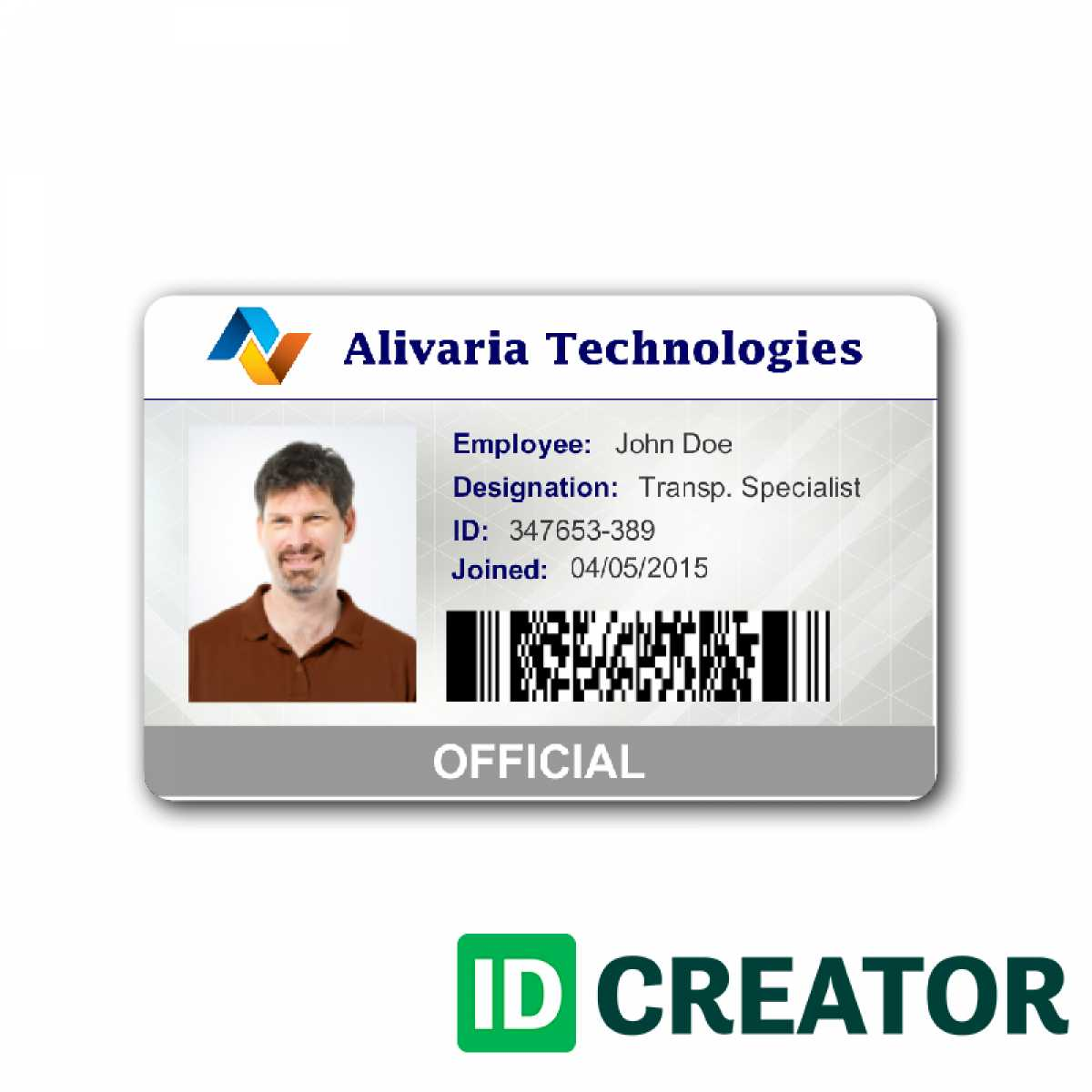 Employee Id Card Template Microsoft Word Free Download For Employee Card Template Word