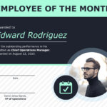 Employee Of The Month Certificate Of Recognition Template Intended For Employee Of The Month Certificate Template With Picture