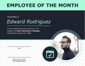 Employee Of The Month Certificate Of Recognition Template throughout Employee Of The Month Certificate Template