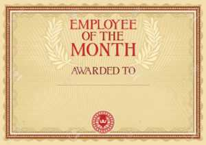 Employee Of The Month – Certificate Template regarding Employee Of The Month Certificate Template