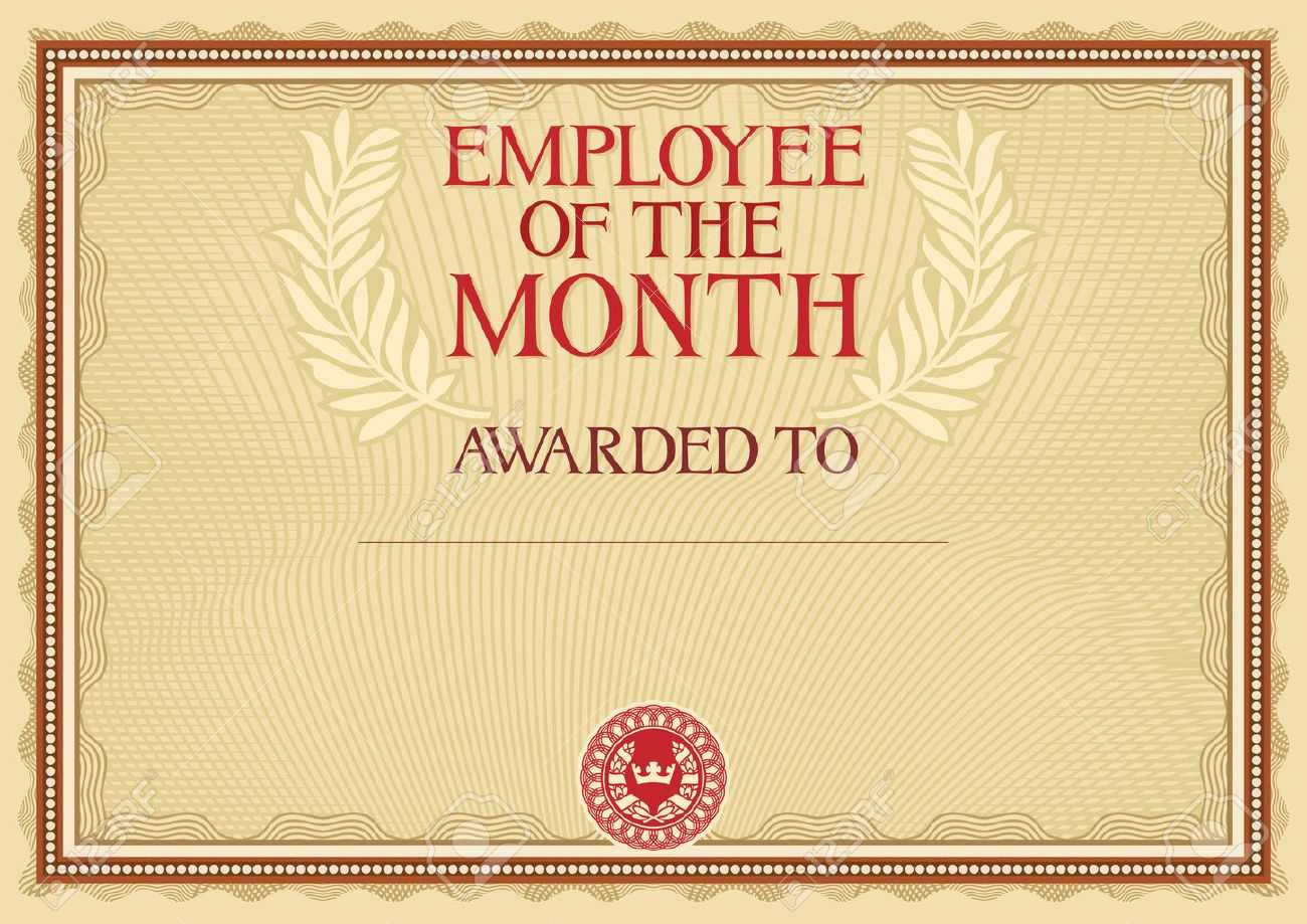 Employee Of The Month - Certificate Template With Manager Of The Month Certificate Template