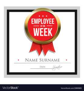 Employee Of The Week Certificate Template for Star Of The Week Certificate Template
