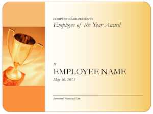 Employee Of The Year Certificate throughout Employee Of The Year Certificate Template Free