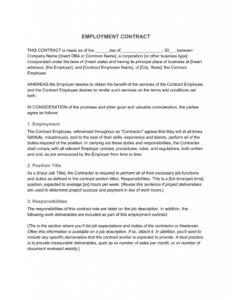 Employment Contract—Definition & What To Include inside Corporate Credit Card Agreement Template