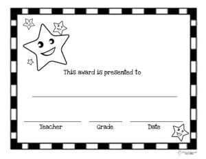 End Of The Year Awards (44 Printable Certificates with Classroom Certificates Templates