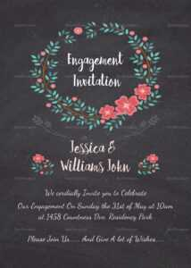 Engagement Invitation Card Template for Engagement Invitation Card Template