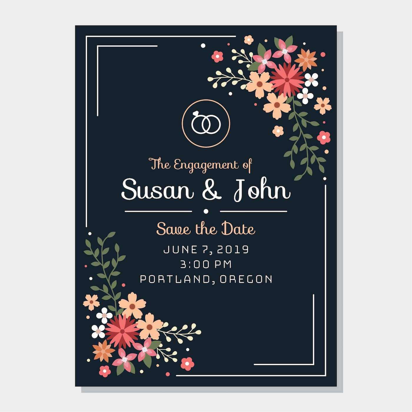 Engagement Invitation Free Vector Art - (888 Free Downloads) Intended For Engagement Invitation Card Template
