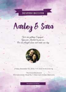 Engagement Party Invitation Card Template throughout Engagement Invitation Card Template