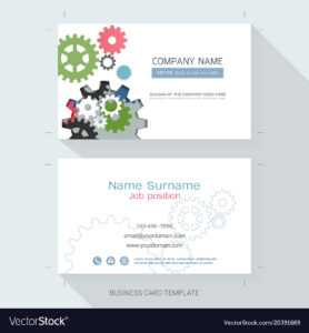 Engineering Business Card Or Name Card Template inside Table Name Card Template