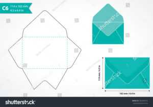 Envelope Template Images, Stock Photos & Vectors | Shutterstock intended for Envelope Templates For Card Making