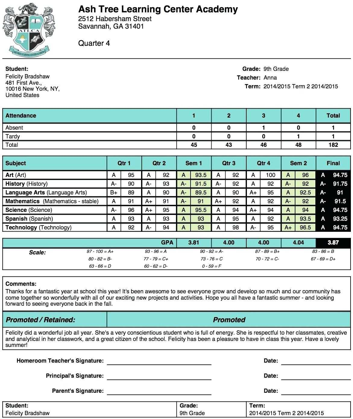 Excel Report Card Template – Harryatkins Throughout High School Student Report Card Template