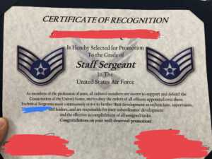 Excited For My Promotion To Sta— Uhh : Airforce in Officer Promotion Certificate Template