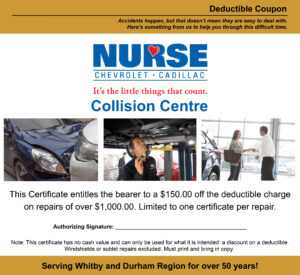 Exclusive Offers   Nurse Chevrolet Cadillac with regard to This Entitles The Bearer To Template Certificate
