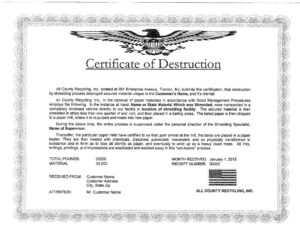🥰5+ Free Certificate Of Destruction Sample Templates🥰 regarding Free Certificate Of Destruction Template