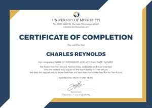 🥰free Certificate Of Completion Template Sample With Example🥰 with regard to Free Certificate Of Completion Template Word