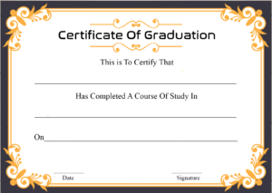 🥰free Certificate Template Of Graduation Download🥰 pertaining to Graduation Certificate Template Word